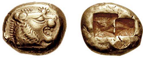 Lydian coin 650 BC