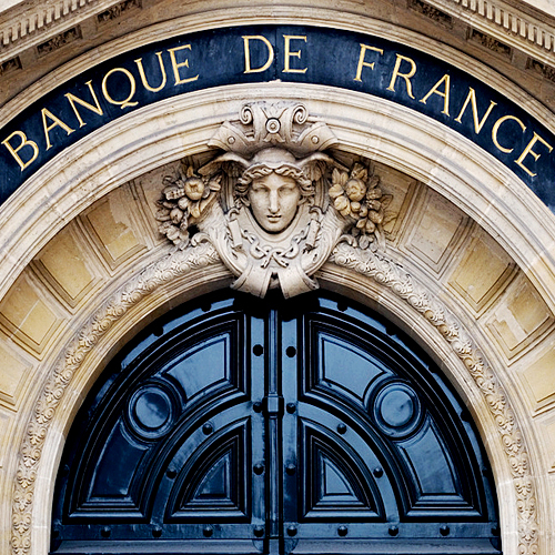 Banque de France entrance door