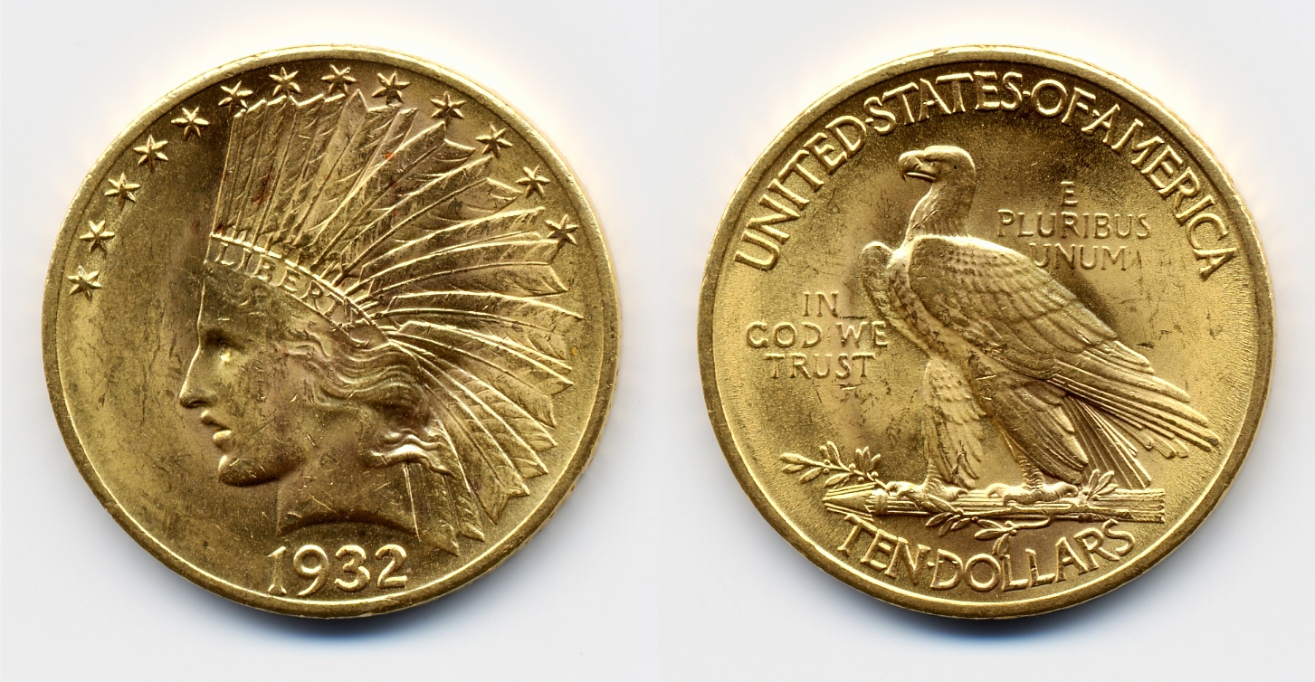 Eagle USA 1932 Coin $10
