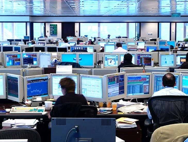 Trading floor screens