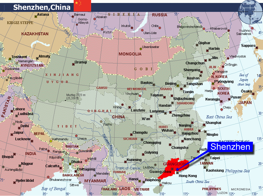 Map Shenzhen China
