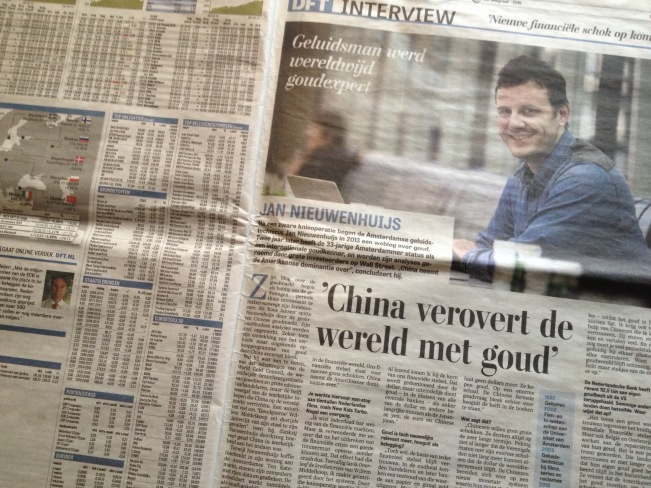 Biggest Newspaper Netherlands Interviews Koos Jansen
