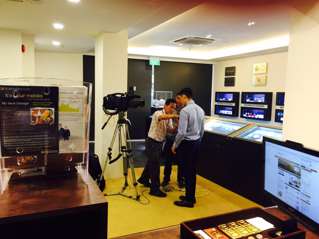 Channel 8 News team is getting our Operations Manager Luke Chua ready for his interview.