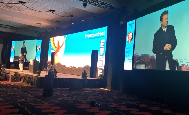 Rand Paul's keynote at FreedomFest 2016, and BullionStar's interactive game