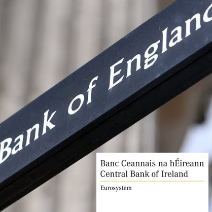 Bank of England and Central Bank of Ireland