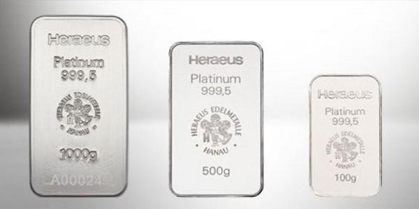 Heraeus Minted Platinum Bars