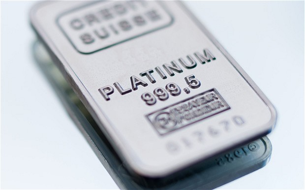 Credit Suisse minted Platinum bar