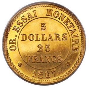 An early attempt at standardizing money using international gold coins
