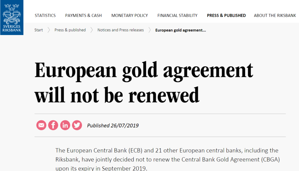 By Not Renewing The Cbga Central Banks In Europe Look Ready