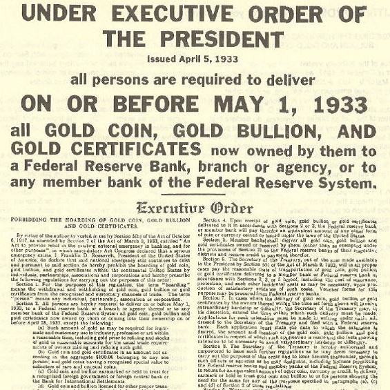 Gold confiscation – Could it happen again?