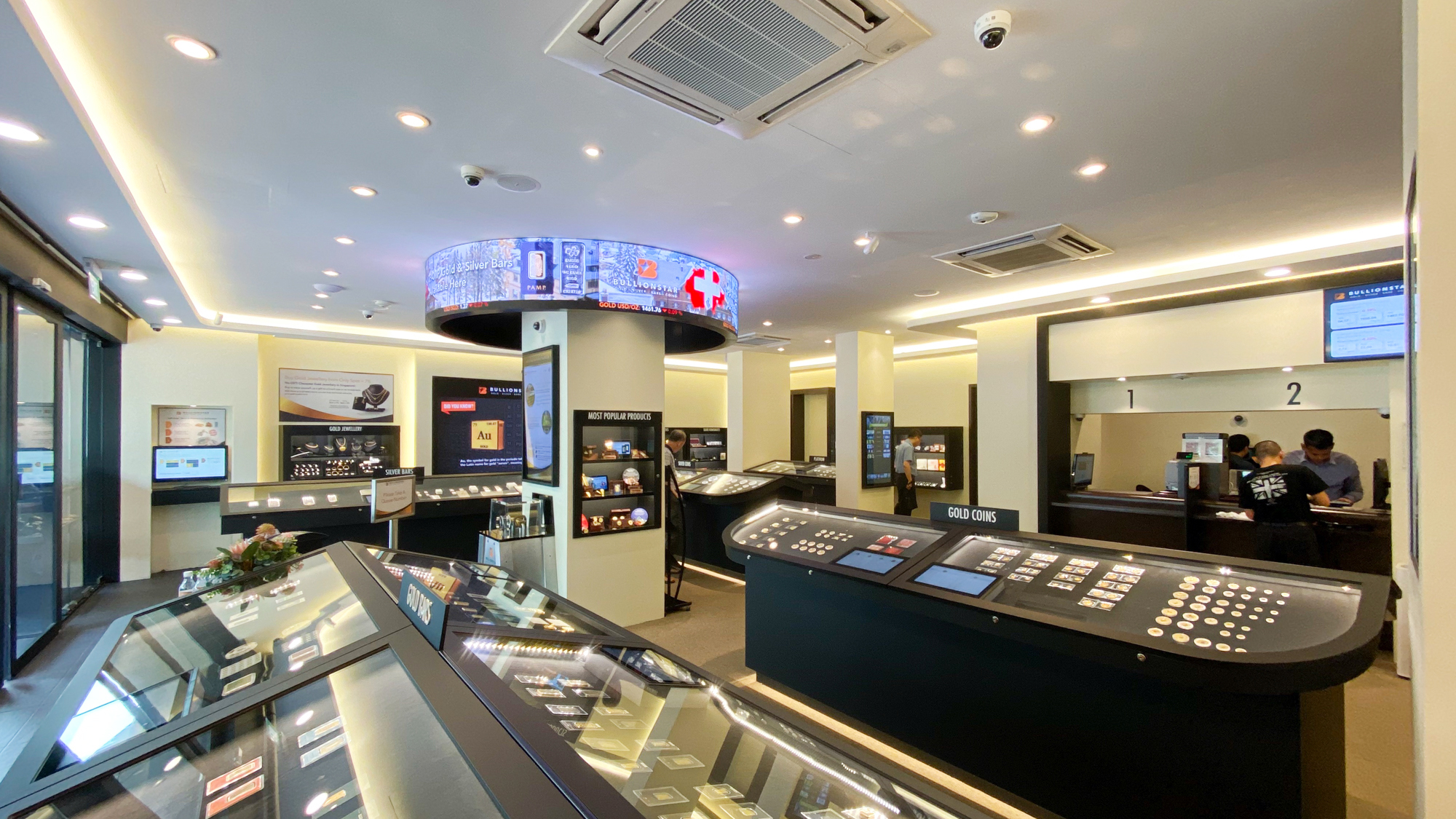 BullionStar's retail shop and showroom in central Singapore