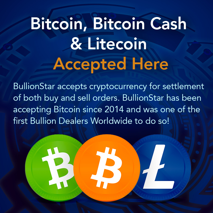 BullionStar accepts cryptocurrency for both buy and sell orders.