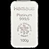 Heraeus Platinum Bar - 100 g