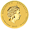 Australian Gold Lunar Series 2015 - Year of the Goat - 1/2 oz