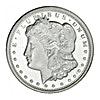 Morgan Silver Round - Circulated in good condition - 1 oz