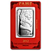 PAMP Lunar Series 2012 Silver Bar - Year of the Dragon - 1 oz