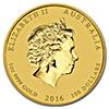 Australian Gold Lunar Series 2016 - Year of the Monkey - 1 oz