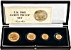 United Kingdom Gold Sovereign 1980 4 coin set - Proof - 2 oz