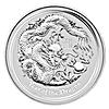 Australian Silver Lunar Series 2012 - Year of the Dragon - 2 oz
