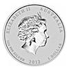 Australian Silver Lunar Dragon 2012 - Lion Privy - 1 oz