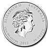 Australian Silver Lunar Series 2012 - Year of the Dragon - 1/2 oz