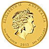 Australian Gold Lunar Series 2013 - Year of the Snake - 2 oz