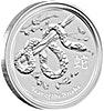 Australian Silver Lunar Series 2013 - Year of the Snake - 10 oz