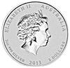 Australian Silver Lunar Series 2013 - Year of the Snake - 2 oz
