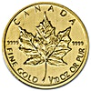 Canadian Gold Maple 1990 - 1/10 oz - Circulated in good condition
