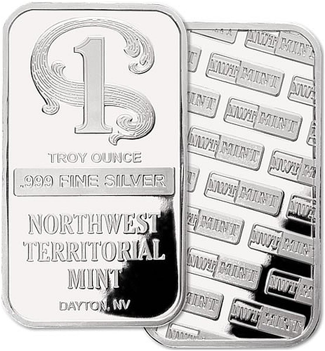 Silver Bullion Bar Nwt Mint 1 Oz