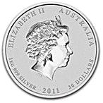 Australian Silver Lunar Series 2011 - Year of the Rabbit - 1 kg thumbnail