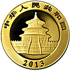 Chinese Gold Panda 2013 - 1 oz thumbnail