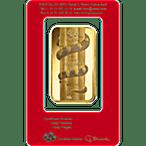 PAMP Lunar Series 2013 Gold Bar - Year of the Snake - 100 g thumbnail