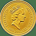 Australian Gold Kangaroo Nugget 1987 - 1 oz thumbnail