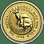 Australian Gold Kangaroo Nugget 1994 - 1/10 oz thumbnail