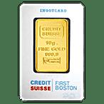 Credit Suisse Gold Bar - First Boston - 10 g thumbnail