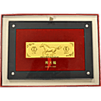 Chow Tai Fook Horse In Victory Gold Bar - 100 g thumbnail