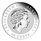 Australian Silver Koala 2015 - 1/2 oz  thumbnail