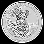 Australian Silver Koala 2015 - 1 kg thumbnail