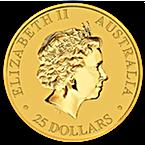 Australian Gold Kangaroo Nugget 2015 - 1/4 oz thumbnail
