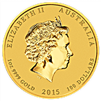 Australian Gold Lunar Series 2015 - Year of the Goat - 1 oz thumbnail