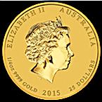 Australian Gold Lunar Series 2015 - Year of the Goat - 1/4 oz thumbnail