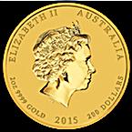 Australian Gold Lunar Series 2015 - Year of the Goat - 2 oz thumbnail