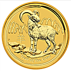 Australian Gold Lunar Series 2015 - Year of the Goat - 2 oz thumbnail