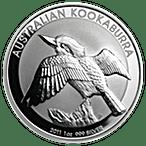 Australian Silver Kookaburra 2011 - 1 oz  thumbnail