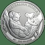 Australian Silver Koala 2011 - 1 kg thumbnail