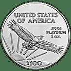 American Platinum Eagle - Various Years - 1 oz  thumbnail