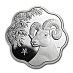 Canadian Silver $15 Lunar Lotus Sheep Proof - With box & COA - 2015 - 0.8585 oz thumbnail