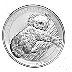Australian Silver Koala 2012 - 1 kg thumbnail