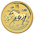 Australian Gold Lunar Series 2014 - Year of the Horse - 1/2 oz thumbnail